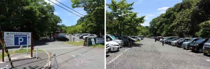むろいけ園地の無料駐車場です。