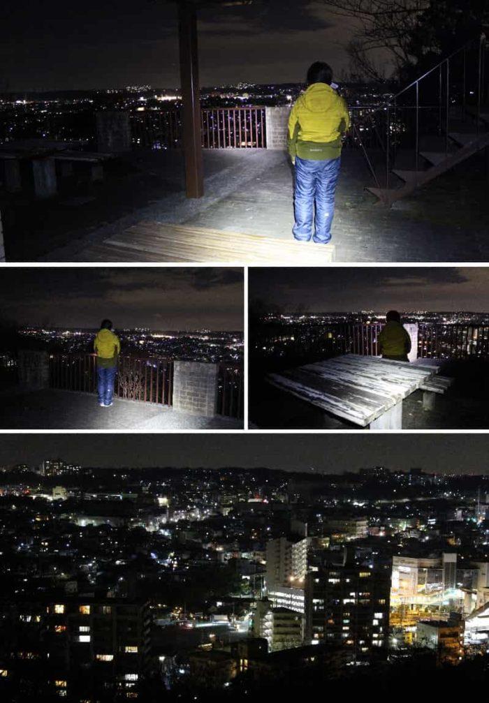 1階の展望スペースより望む夜景です。