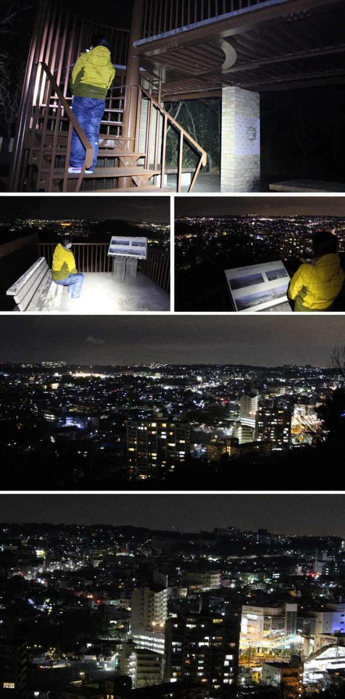 屋上の展望スペースより望む夜景です。