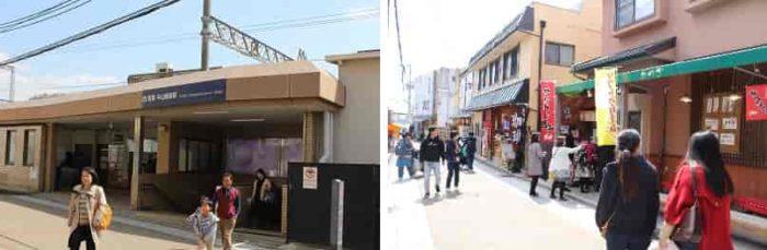 阪急宝塚本線「中山観音駅」です。