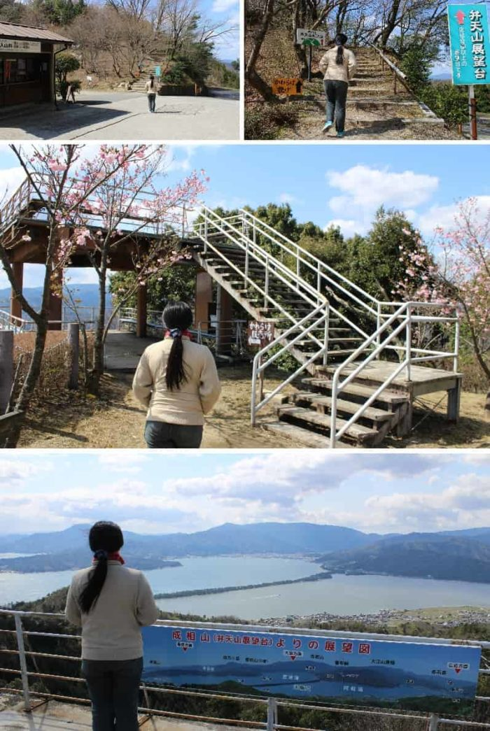 弁天山展望台より眺める天橋立です。