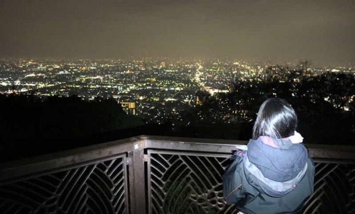 額田山展望台より望む夜景です。