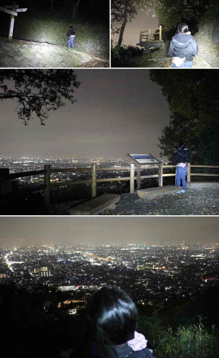 『中展望』から眺めた夜景です。