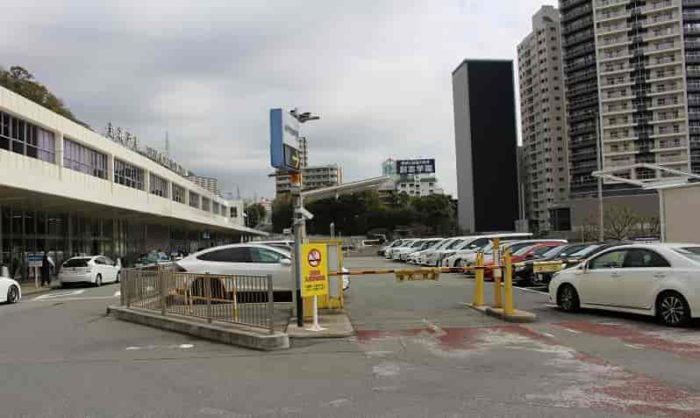 新神戸駅前にあるコインパーキングです。