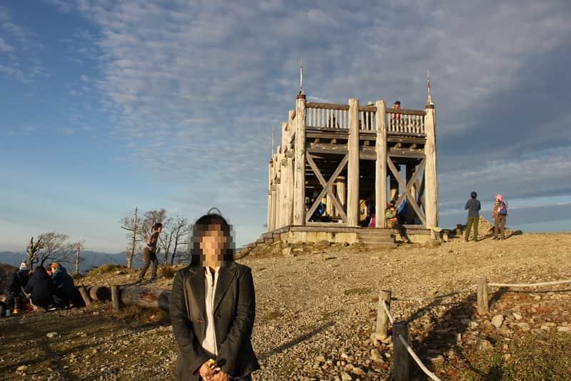 『日出ヶ岳』の『展望台』です