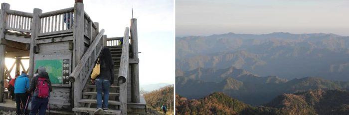 日出ヶ岳の展望台から見た景色です。