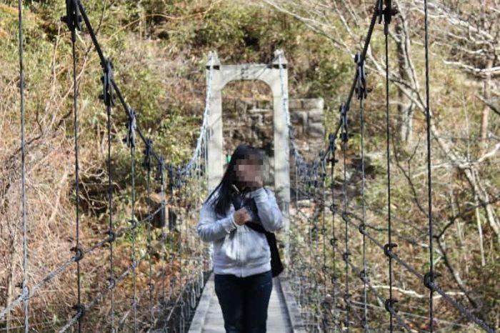 『シオカラ谷吊り橋』です。