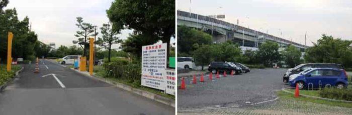大浜公園の有料駐車場です。