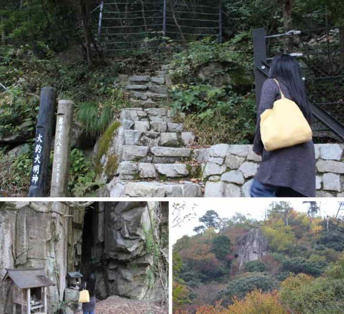 『女窟の断崖』と『天狗岩』です。