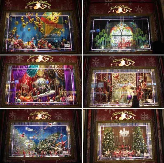 6種類のクリスマスディスプレイです。
