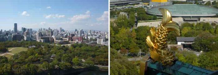 『天守』から眺める大阪の街並みです。