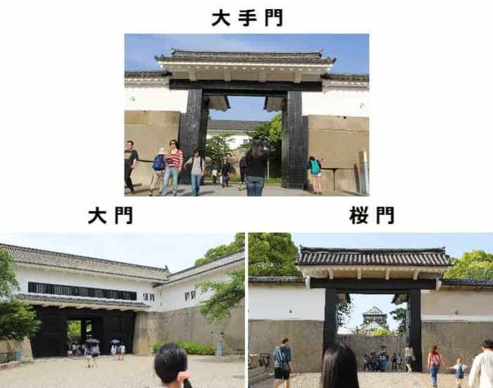 大阪城までにある『門』です。