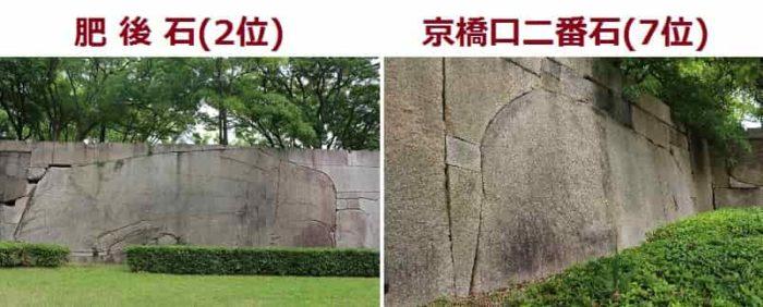 『京橋口』の『桝形』の巨石です。