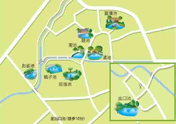 『忍野八海』の散策マップです。