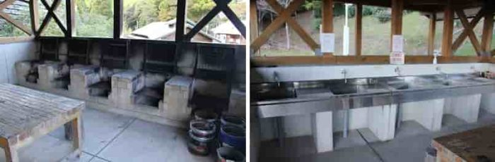綺麗な炊事棟が完備されています。
