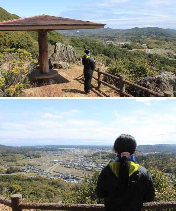 おうむ岩展望台より眺める景色です。