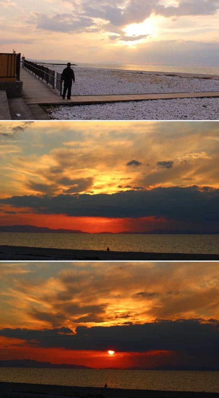 りんくうマーブビーチより望む夕日です。