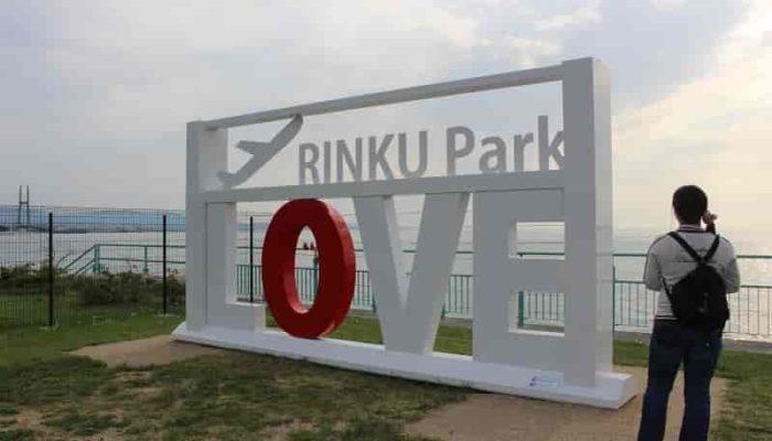 『LOVE RINKU』のモニュメントです。