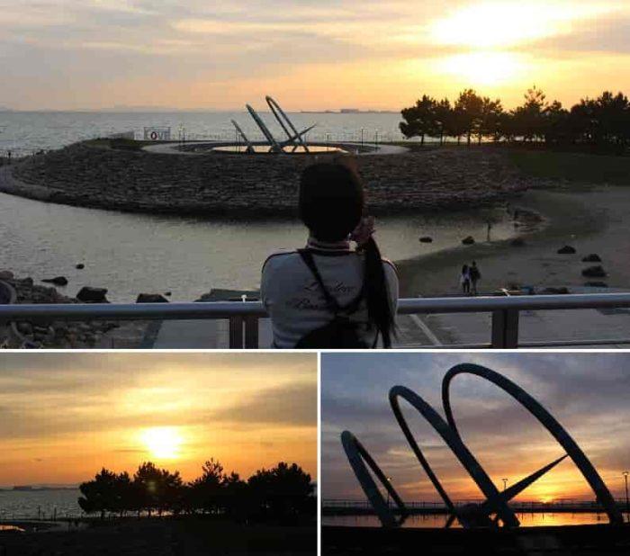『太鼓橋』から眺める夕景です。
