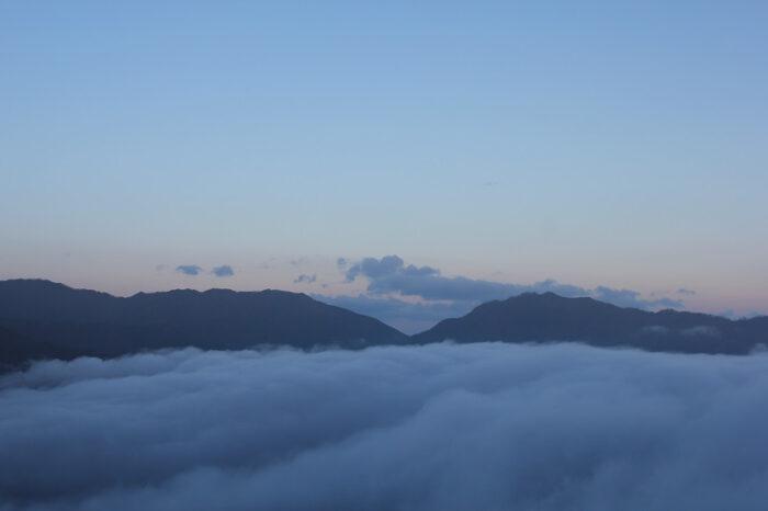 いい感じに『雲海』が広がります。