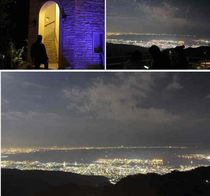 『見晴らしの塔』から眺める夜景です。