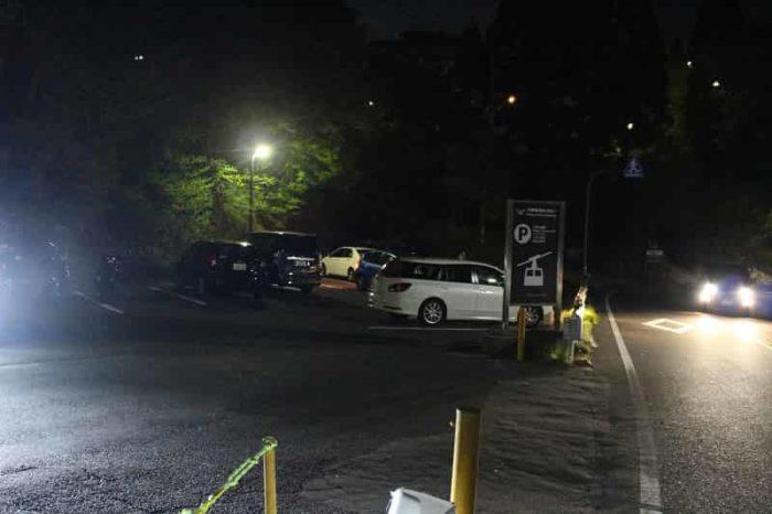 有馬六甲ロープーウェイの駐車場です。