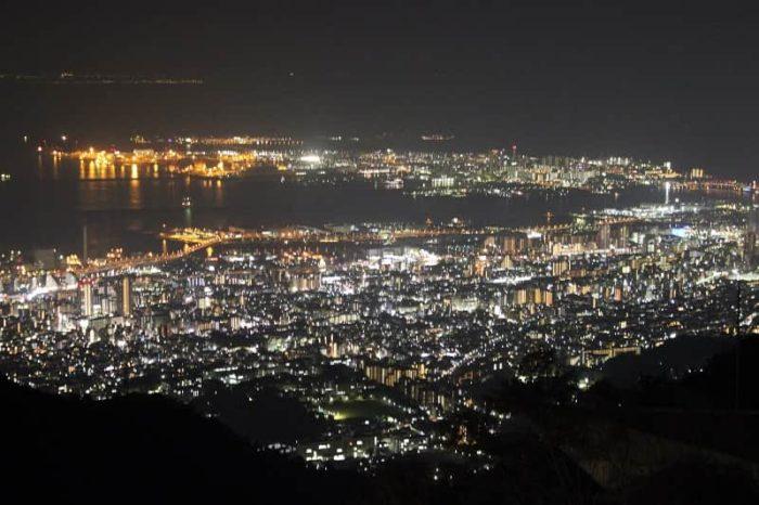 『展覧台』から眺める夜景です。