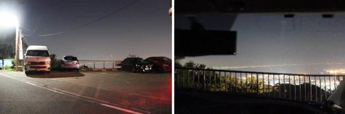 車に乗りながら夜景を楽しめます。