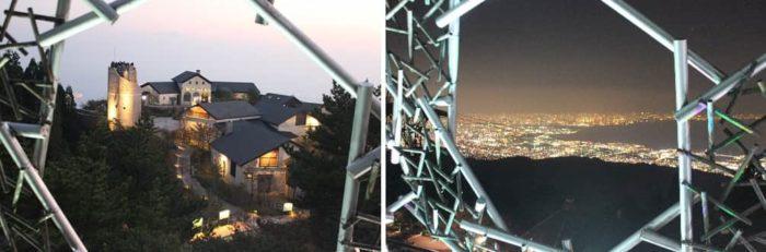 六甲枝垂れから眺める夜景です。