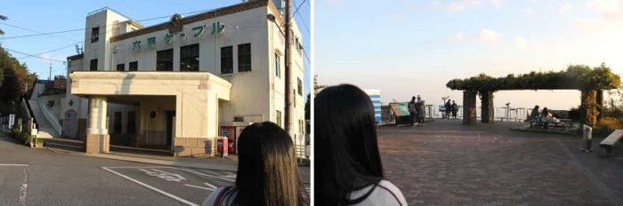六甲山上駅にある『展覧台』です。