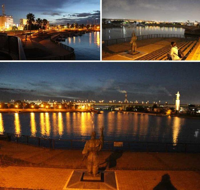 堺旧港より望む夜景です。