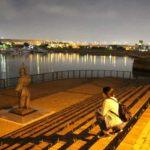 堺旧港のプロムナードより望む夜景です。