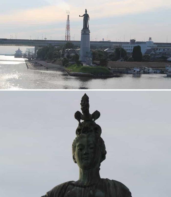 堺市のシンボル「龍女神像」です。