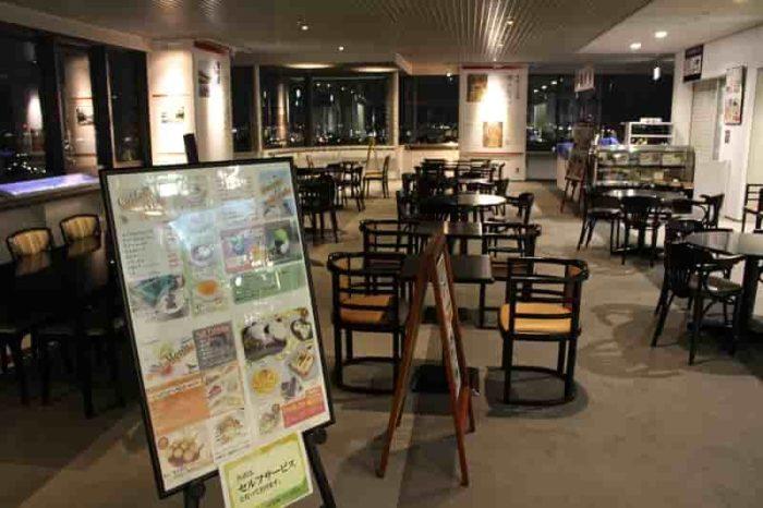北展望ロビーにある喫茶ミエールです。