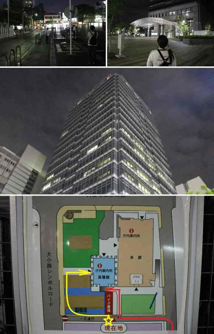 堺市役所の配置図です。