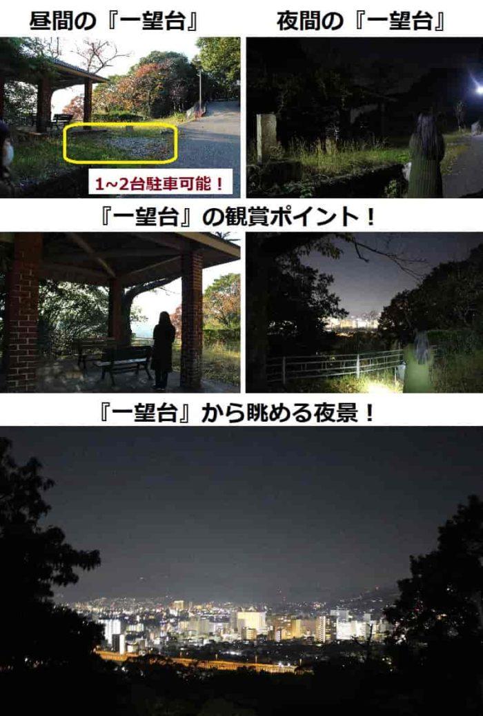 『一望台』から眺める夜景です。