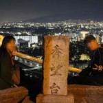 『秀望台』から眺める夜景です。