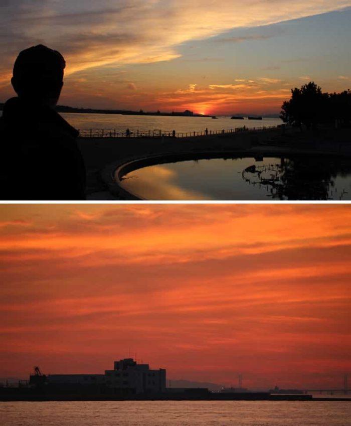 日本の夕陽100選に選ばれています。