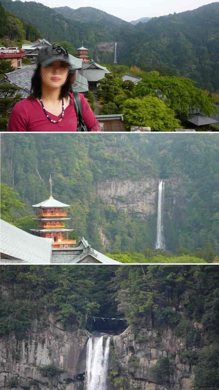 那智の滝展望所より望む景色です。