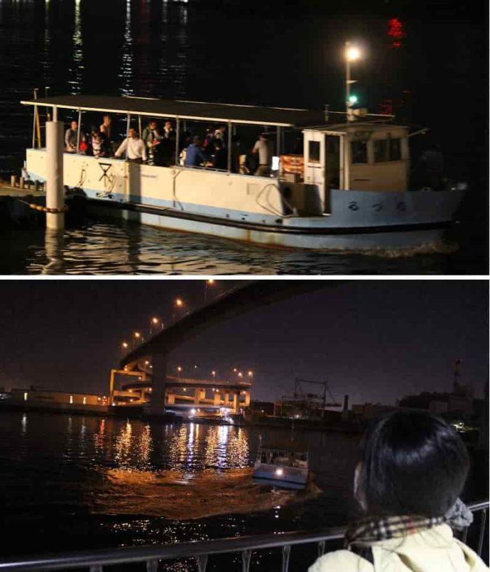 対岸への渡し舟「ポンポン船」です。