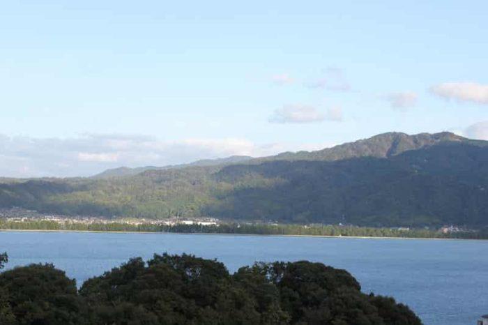 雪舟観展望所から眺めた天橋立です。