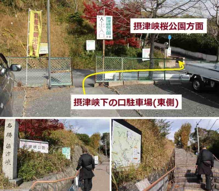 メイン広場「摂津峡桜公園」へ向かいます。