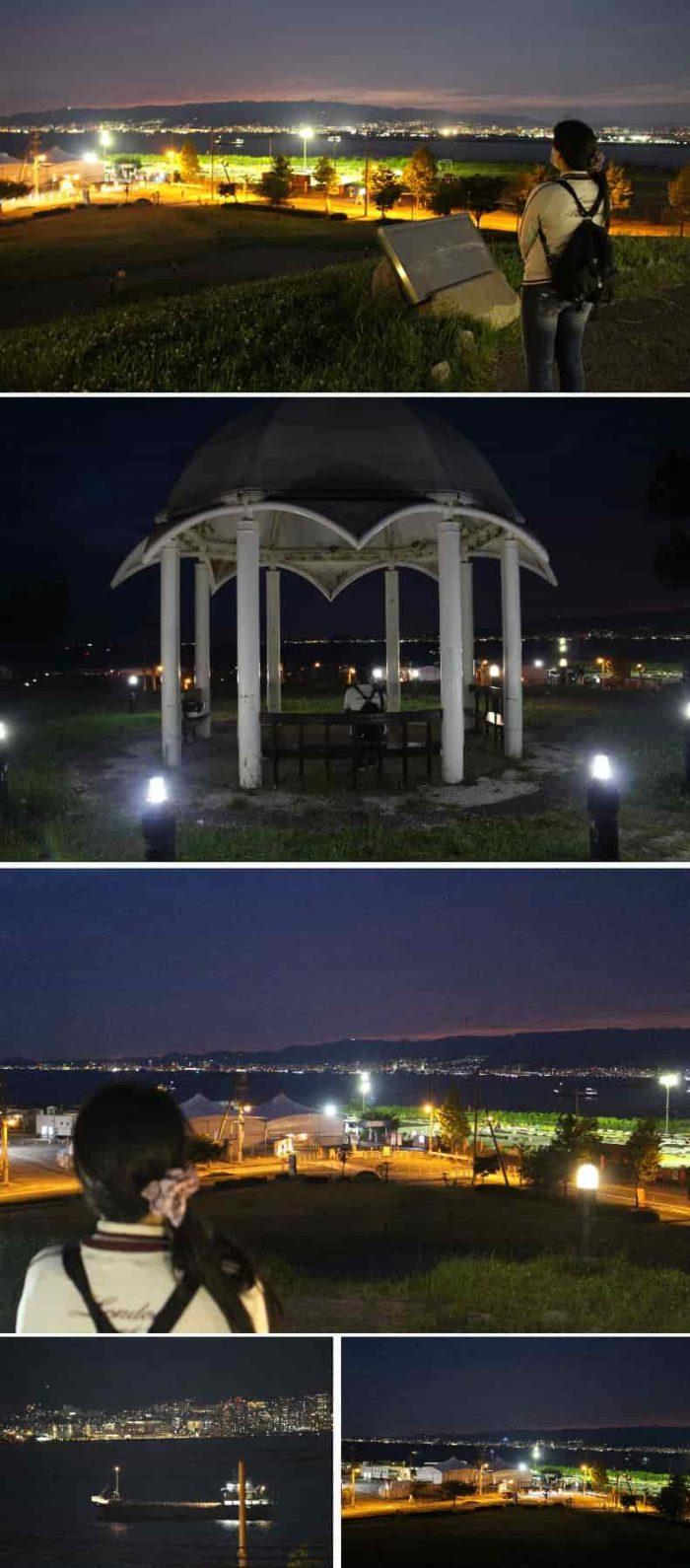 ロマンチックな雰囲気の展望広場です。