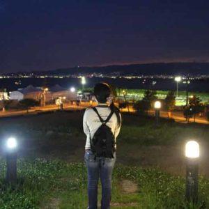 展望広場から眺める夜景です。
