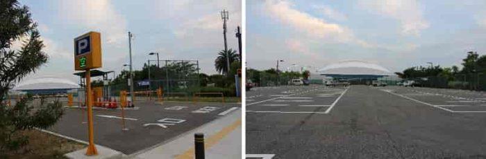 『ミズノ舞洲駐車場』です。