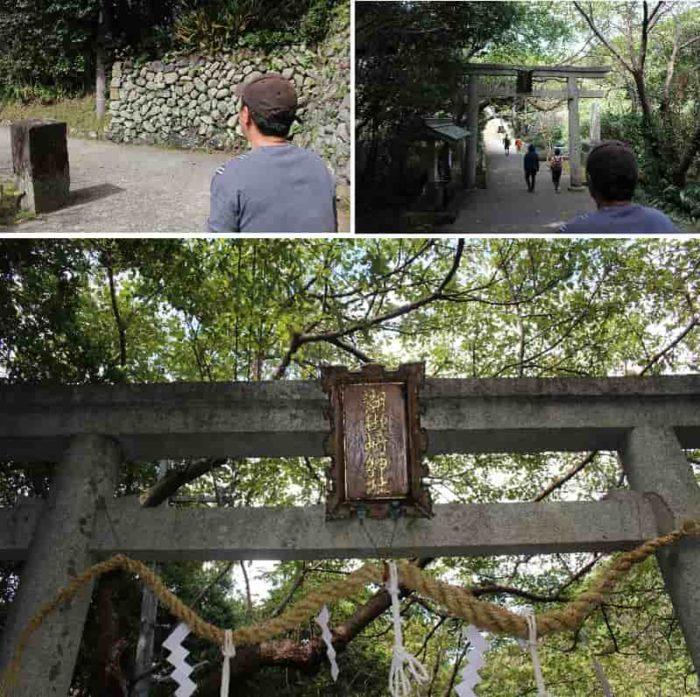潮御崎神社の神域を示す鳥居です。