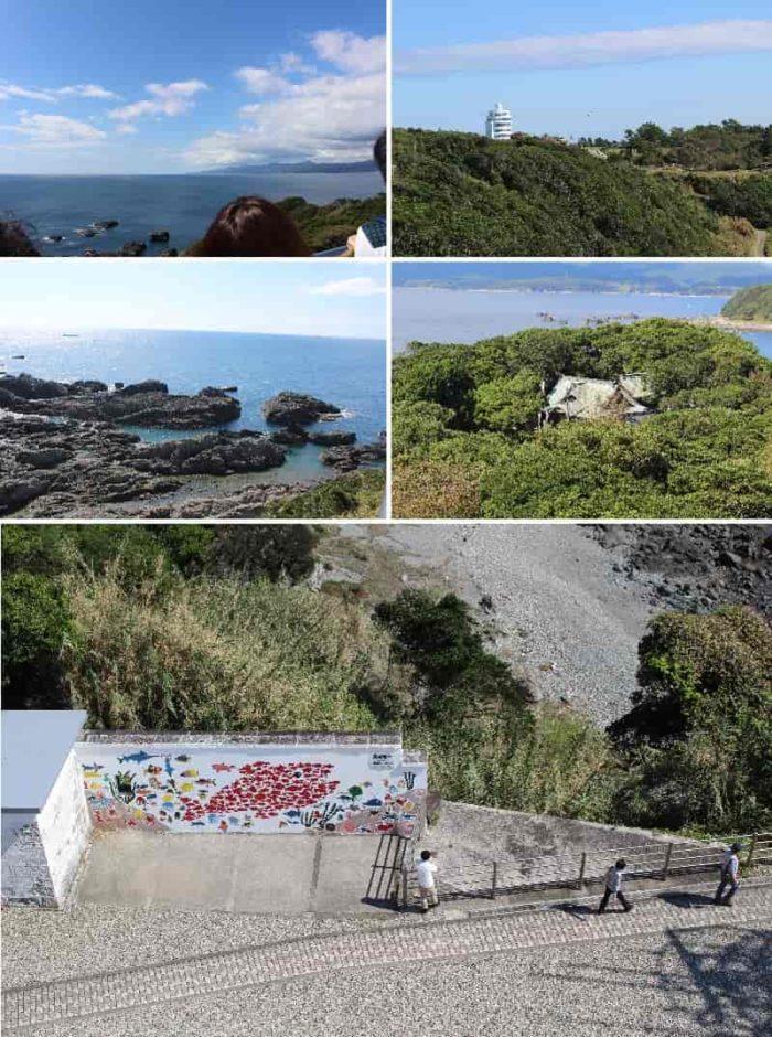 潮岬灯台上部から眺める景色です。
