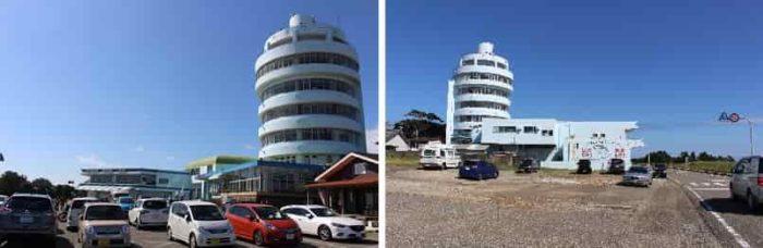 潮岬観光タワーの無料大型駐車場です。