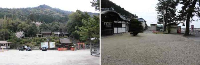 『白鬚神社』の無料の駐車場です。