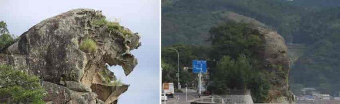 『獅子岩』と『人面岩』です。